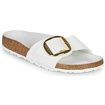 Sapatos Mulher Chinelos Birkenstock MADRID BIG BUCKLE Branco / Verniz