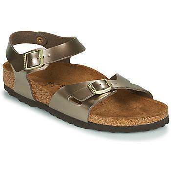 Sapatos Mulher Sandálias Birkenstock RIO Bronze