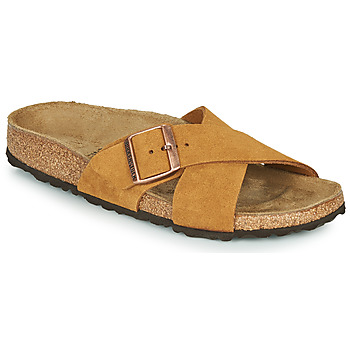 Sapatos Mulher Chinelos Birkenstock SIENA LEATHER Camel