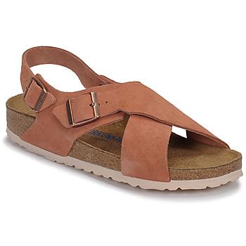 Sapatos Mulher Sandálias Birkenstock TULUM SFB LEATHER Terra / Vermelho / Vermelho