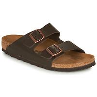 Sapatos Homem Chinelos Birkenstock ARIZONA LEATHER Castanho