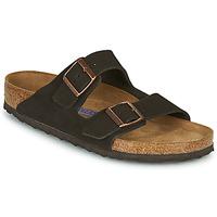 Sapatos Homem Chinelos Birkenstock ARIZONA SFB LEATHER Castanho