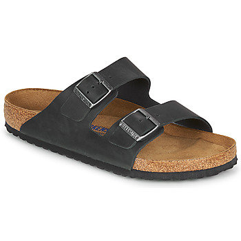 Sapatos Homem Chinelos Birkenstock ARIZONA SFB LEATHER Preto