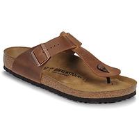 Sapatos Homem Chinelos Birkenstock MEDINA LEATHER Antigo / Castanho