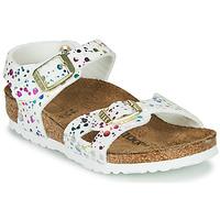 Sapatos Rapariga Sandálias Birkenstock RIO Branco / Multicolor
