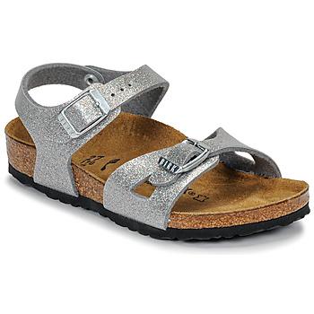 Sapatos Rapariga Sandálias Birkenstock RIO Glitter / Prata