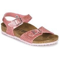 Sapatos Rapariga Sandálias Birkenstock RIO PLAIN Cósmico / Brilho / Rosa