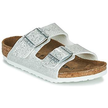 Sapatos Rapariga Chinelos Birkenstock ARIZONA Cósmico / Brilho / Branco