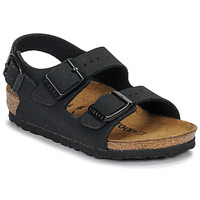 Sapatos Rapaz Sandálias Birkenstock MILANO Nubuck / Preto