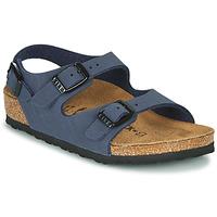 Sapatos Rapaz Sandálias Birkenstock ROMA Marinho
