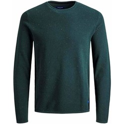 Textil Rapaz camisolas Jack & Jones JORNAT KNIT CREW NEW verde