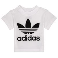 Textil Criança T-Shirt mangas curtas adidas Originals MAELYS Branco