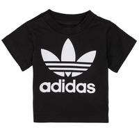 Textil Criança T-Shirt mangas curtas adidas Originals MARGOT Preto