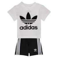 Textil Rapaz Conjunto adidas Originals CAROLINE Branco / Preto
