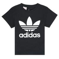 Textil Criança T-Shirt mangas curtas adidas Originals LEILA Preto