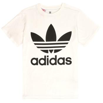 Textil Criança T-Shirt mangas curtas adidas Originals SARAH Branco