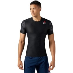Textil Homem T-Shirt mangas curtas Reebok Sport Crossfit RC Compression Preto