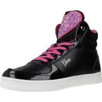 Sapatos Rapariga Sapatilhas de cano-alto Geox J DJROCK GIRL Preto