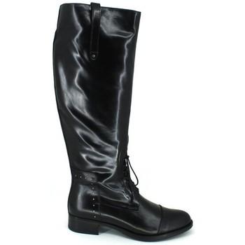 Sapatos Mulher Botas Luis Gonzalo 4932M Botas de Montar de Mujer Preto