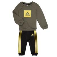 Textil Rapaz Conjunto adidas Performance MERLO Cinza / Amarelo