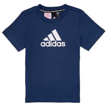 Textil Rapaz T-Shirt mangas curtas adidas Performance BRIAN Marinho