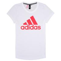 Textil Rapariga T-Shirt mangas curtas adidas Performance ELIOTE Branco