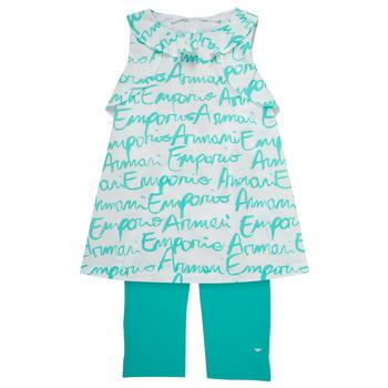 Textil Rapariga Conjunto Emporio Armani Adel Branco / Azul