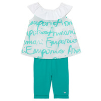 Textil Rapariga Conjunto Emporio Armani Alex Branco / Azul