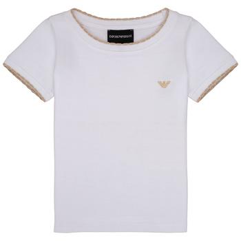Textil Rapariga T-Shirt mangas curtas Emporio Armani Allan Branco