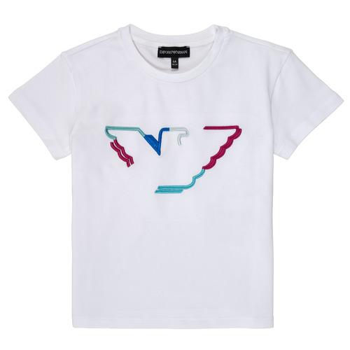 Textil Rapariga T-Shirt mangas curtas Emporio Armani Amin Branco