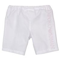 Textil Rapariga Shorts / Bermudas Emporio Armani Aniss Branco