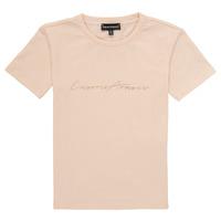 Textil Rapariga T-Shirt mangas curtas Emporio Armani Armel Rosa