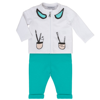 Textil Rapariga Conjunto Emporio Armani Aubin Branco / Azul