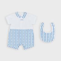 Textil Rapaz Macacões/ Jardineiras Emporio Armani Adam Azul