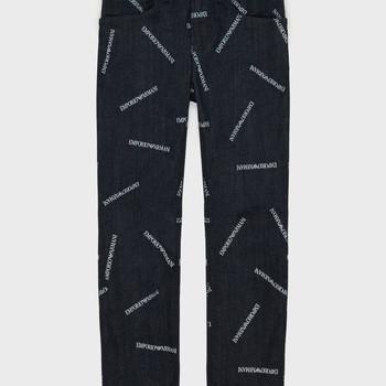 Textil Rapaz Calças Jeans Emporio Armani Adil Azul