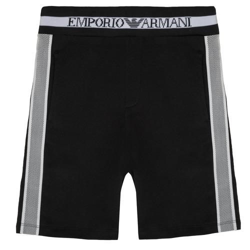 Textil Rapaz Shorts / Bermudas Emporio Armani Aubert Preto