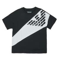 Textil Rapaz T-Shirt mangas curtas Emporio Armani Blaise Preto / Branco