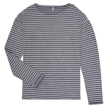 Textil Rapariga T-shirt mangas compridas Only KONNELLY Branco / Marinho