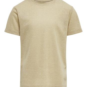 Textil Rapariga T-Shirt mangas curtas Only KONSILVERY Ouro