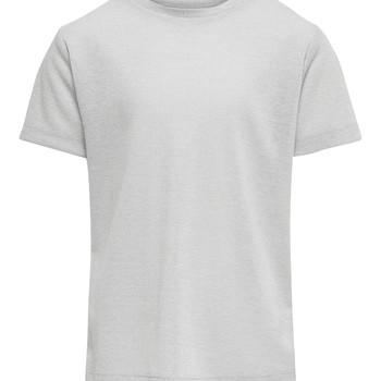 Textil Rapariga T-Shirt mangas curtas Only KONSILVERY Prata