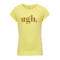 Textil Rapariga T-Shirt mangas curtas Only KONJULLA Amarelo