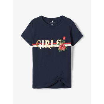 Textil Rapariga T-Shirt mangas curtas Name it NKFBARBRA Marinho