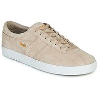 Sapatos Mulher Sapatilhas Gola TRAINER SUEDE Rosa / Branco
