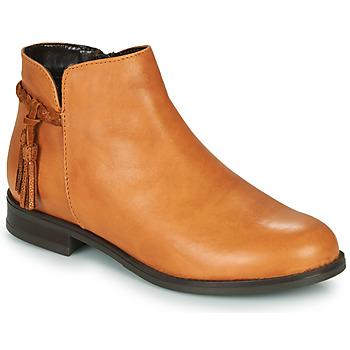 Sapatos Mulher Botins André MILOU Camel