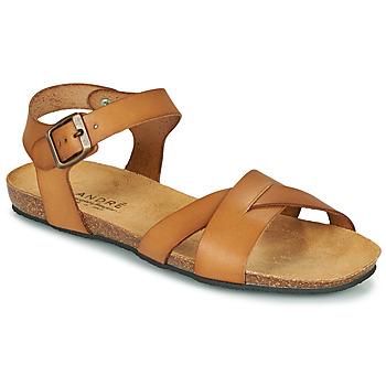 Sapatos Mulher Sandálias André BREHAT Camel