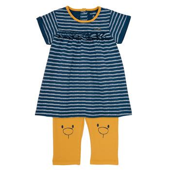 Textil Rapariga Vestidos curtos Noukie's AYOUB Azul / Amarelo
