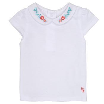 Textil Rapariga T-Shirt mangas curtas Carrément Beau MAYVE Branco