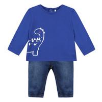 Textil Rapaz Conjunto 3 Pommes GABRIEL Azul