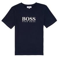 Textil Rapaz T-Shirt mangas curtas BOSS PILIO Azul
