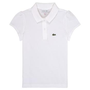Textil Rapariga Polos mangas curta Lacoste CAYDEN Branco